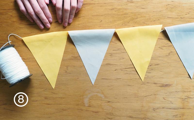 步驟8-屬於自己的可愛三角旗就完成了!快掛起來吧!