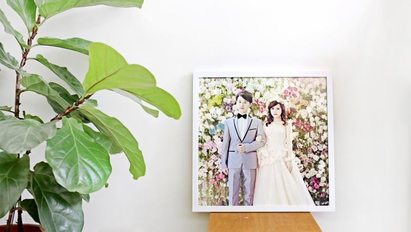 婚禮木框畫