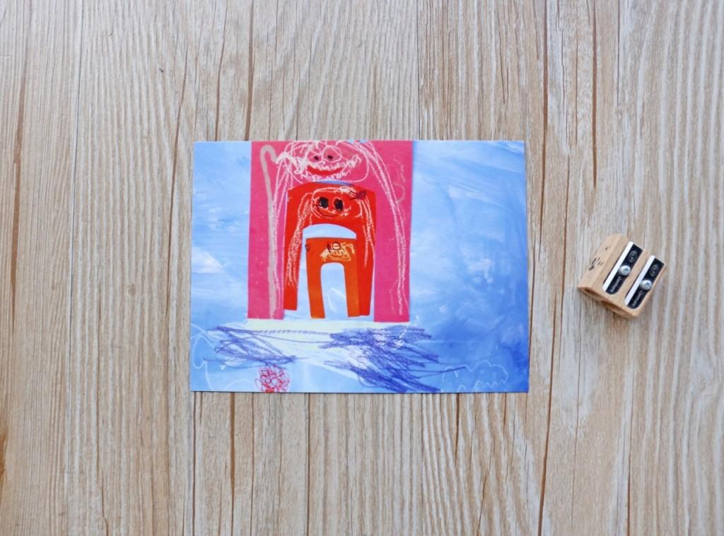 謙謙三歲作品集【水上花園】我們這一家 (由外而內:謙謙、媽媽、爸爸)
